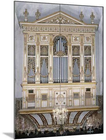 Low Angle View of a Pipe Organ in a Church, San Martino Abbey, Sicily, Italy--Mounted Giclee Print
