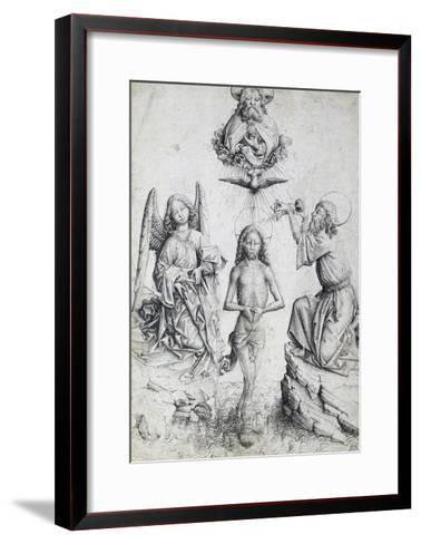 Baptism of Christ, by Master E S (Active 1420-1497), Germany, 15th Century--Framed Art Print