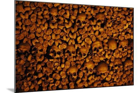 Portugal. Evora. Chapel of Bones. Church of St. Francis. Walls are Covered with Human Skulls and Bo--Mounted Photographic Print