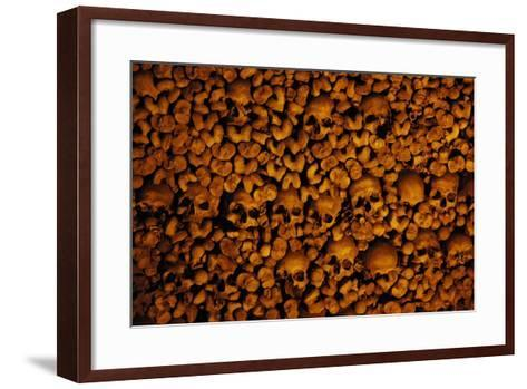 Portugal. Evora. Chapel of Bones. Church of St. Francis. Walls are Covered with Human Skulls and Bo--Framed Art Print