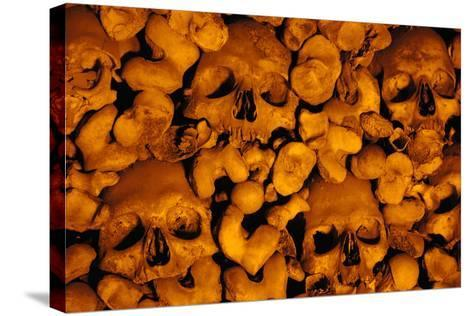Portugal. Evora. Chapel of Bones. Church of St. Francis. Walls are Covered with Human Skulls and Bo--Stretched Canvas Print