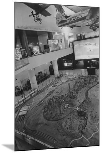 Looking Down from the Balcony onto the Santa Fe Railroad Model Inside the Museum of Science and Ind--Mounted Photographic Print