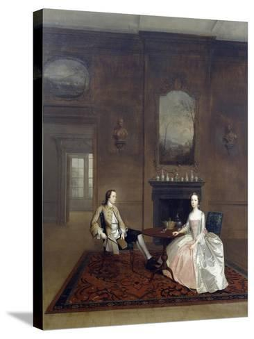 Mr Richard Bull and His Wife, Circa 1750, Painting by Arthur Devis (1712-1787)--Stretched Canvas Print