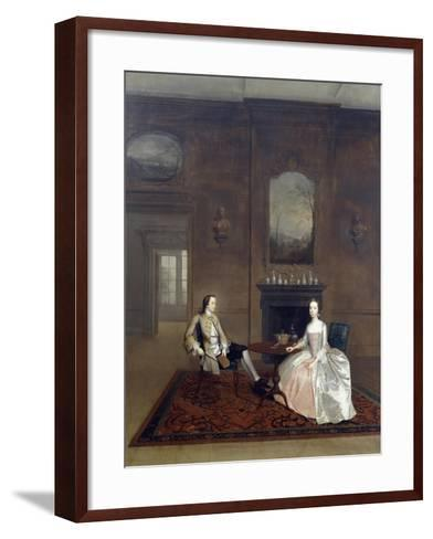 Mr Richard Bull and His Wife, Circa 1750, Painting by Arthur Devis (1712-1787)--Framed Art Print