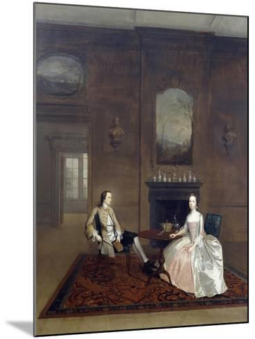 Mr Richard Bull and His Wife, Circa 1750, Painting by Arthur Devis (1712-1787)--Mounted Giclee Print