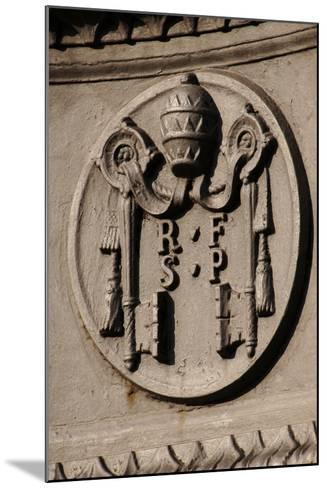 Emblem of Reverend Fabric of Saint Peter (Fabbrica Di San Pietro). St. Peter's Square. Vatican City--Mounted Photographic Print