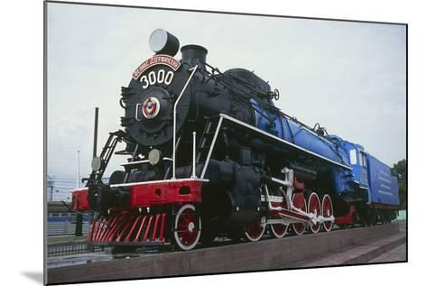 Old Steam Locomotive, Now Monument to Trans-Siberian Railway Line, in Square in Novosibirsk, Russia--Mounted Photographic Print
