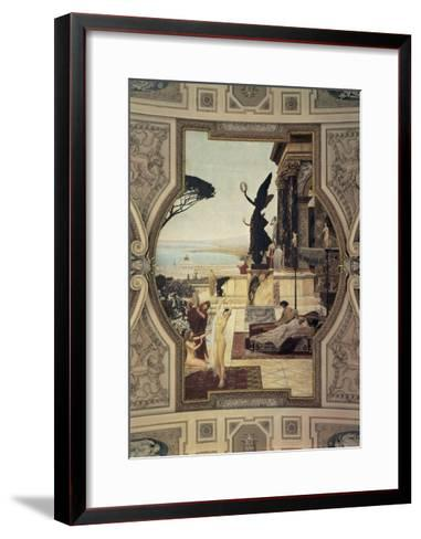 Close-Up of a Painting on a Theater Wall, Taormina, Burgtheater, Vienna, Austria--Framed Art Print