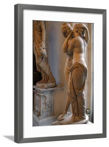 Roman Art. Statue of Cupid and Psyche. Marble. Copy. Capitoline Museums. Rome. Italy--Framed Art Print