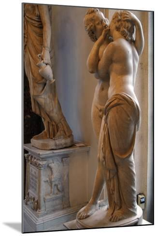 Roman Art. Statue of Cupid and Psyche. Marble. Copy. Capitoline Museums. Rome. Italy--Mounted Photographic Print