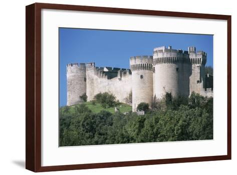 Trees in Front of a Castle, Fort Saint Andre, Languedoc-Roussillon, Villeneuve-Les-Avignon, France--Framed Art Print