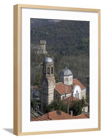 View of Church and Part of the Fortifications on Tsarevets Hill, Veliko Tarnovo, Bulgaria--Framed Art Print