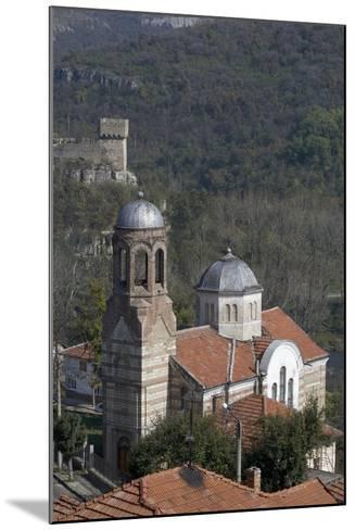 View of Church and Part of the Fortifications on Tsarevets Hill, Veliko Tarnovo, Bulgaria--Mounted Photographic Print