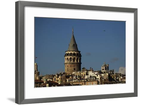 Turkey. Istanbul. Galata Tower. Medieva Stone Tower in Galata Quarter. Built in 1348--Framed Art Print