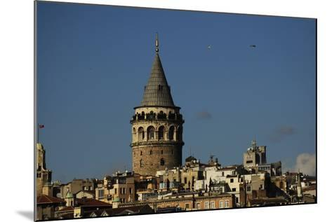 Turkey. Istanbul. Galata Tower. Medieva Stone Tower in Galata Quarter. Built in 1348--Mounted Photographic Print