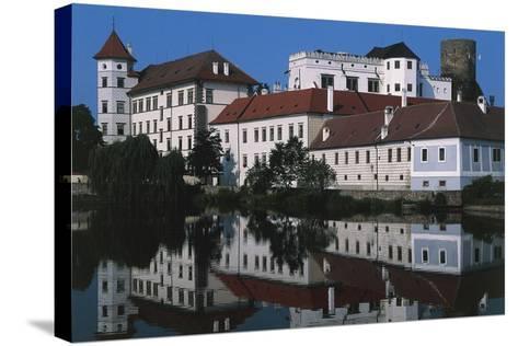 Jindrichuv Hradec Castle, Renaissance Style, Overlooking Fish Pond, Bohemia, Czech Republic--Stretched Canvas Print