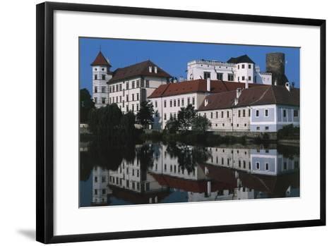 Jindrichuv Hradec Castle, Renaissance Style, Overlooking Fish Pond, Bohemia, Czech Republic--Framed Art Print