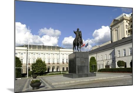 Poland. Warsaw. Presidential Palace and Statue of Prince Jozef Poniatowski (1763-1813)--Mounted Photographic Print