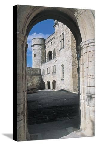 Archway of a Castle, Le Barroux Castle, Vaucluse, Provence-Alpes-Cote D'Azur, France--Stretched Canvas Print