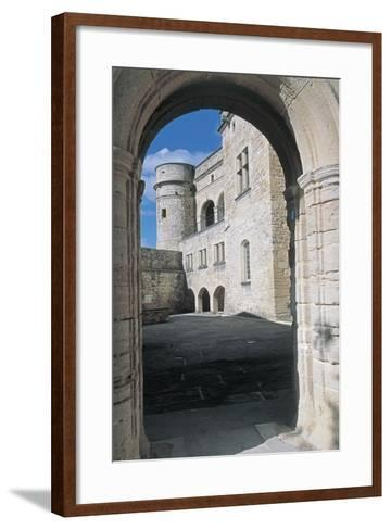Archway of a Castle, Le Barroux Castle, Vaucluse, Provence-Alpes-Cote D'Azur, France--Framed Art Print