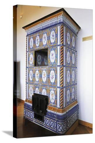 Ceramic Stove Top, 18th Century Inside Chateau of Montbeliard, Franche-Comte, France--Stretched Canvas Print