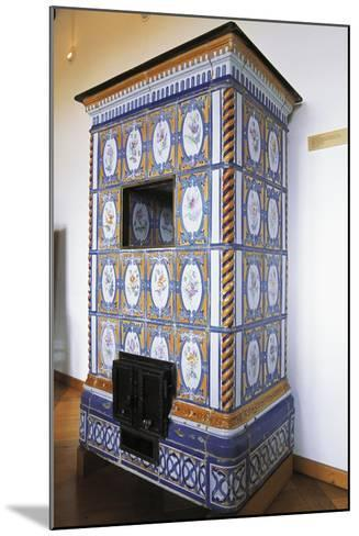 Ceramic Stove Top, 18th Century Inside Chateau of Montbeliard, Franche-Comte, France--Mounted Photographic Print