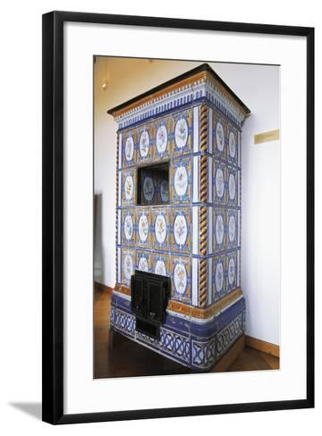 Ceramic Stove Top, 18th Century Inside Chateau of Montbeliard, Franche-Comte, France--Framed Art Print