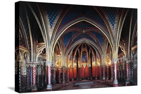 Interior of Lower Chapel, Sainte-Chapelle, 1246-1248, Paris, Ile-De-France, France, 13th Century--Stretched Canvas Print