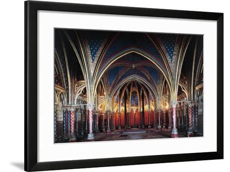 Interior of Lower Chapel, Sainte-Chapelle, 1246-1248, Paris, Ile-De-France, France, 13th Century--Framed Art Print