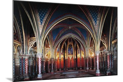 Interior of Lower Chapel, Sainte-Chapelle, 1246-1248, Paris, Ile-De-France, France, 13th Century--Mounted Photographic Print