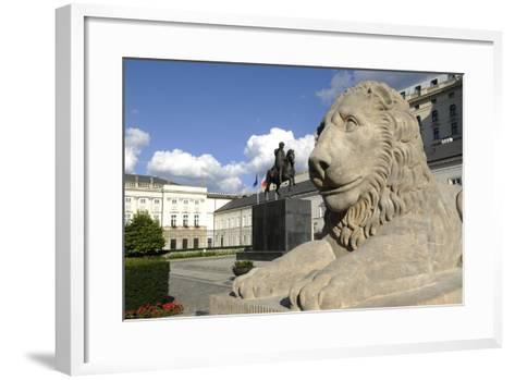Poland. Warsaw. Presidential Palace and Statue of Prince Jozef Poniatowski (1763-1813)--Framed Art Print