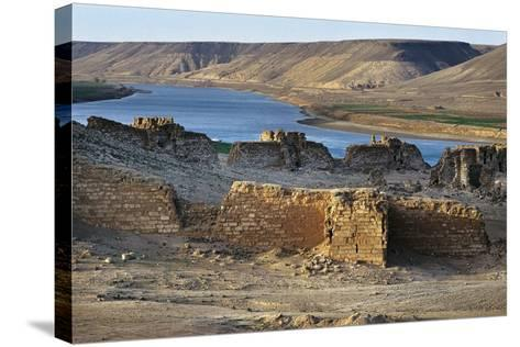 Halabiya Citadel, on Banks of Euphrates, Syria. Roman and Byzantine Civilisations, 3rd-6th Century--Stretched Canvas Print