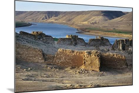 Halabiya Citadel, on Banks of Euphrates, Syria. Roman and Byzantine Civilisations, 3rd-6th Century--Mounted Photographic Print