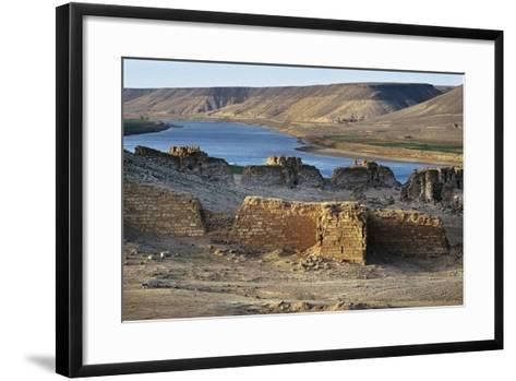 Halabiya Citadel, on Banks of Euphrates, Syria. Roman and Byzantine Civilisations, 3rd-6th Century--Framed Art Print
