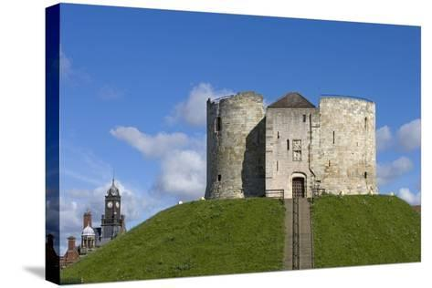 Clifford's Tower, Built by Henry III Between 1250-1275, York, North Yorkshire, United Kingdom--Stretched Canvas Print