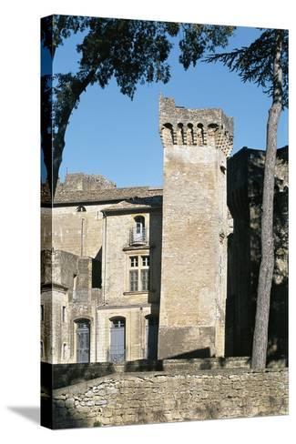 Old Ruins of a Castle, St. Privat Castle, Gard Department, Languedoc-Rousillon, France--Stretched Canvas Print