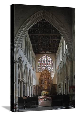 Central Nave and Altar of St Margaret's Church, King's Lynn, Norfolk, United Kingdom--Stretched Canvas Print