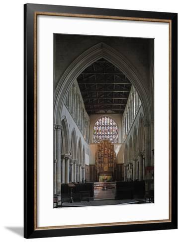 Central Nave and Altar of St Margaret's Church, King's Lynn, Norfolk, United Kingdom--Framed Art Print