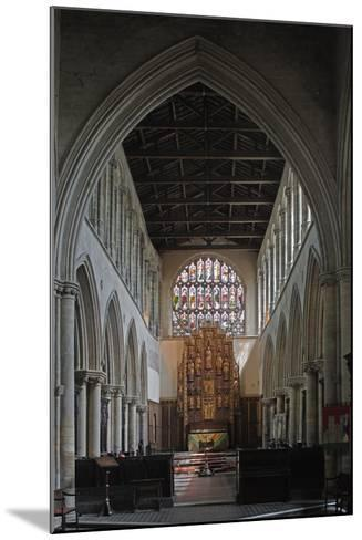 Central Nave and Altar of St Margaret's Church, King's Lynn, Norfolk, United Kingdom--Mounted Photographic Print