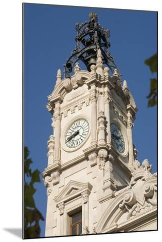 Spain - Valencia. City Hall Ayuntamiento Building, 19th-20th Century. Clock Tower--Mounted Photographic Print