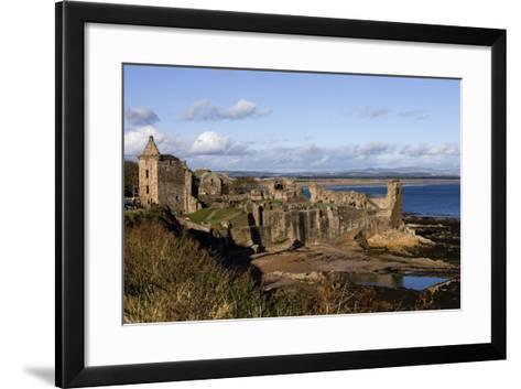 Ruins of St Andrews Castle (Founded in 1200), St Andrews Bay, Scotland, United Kingdom--Framed Art Print
