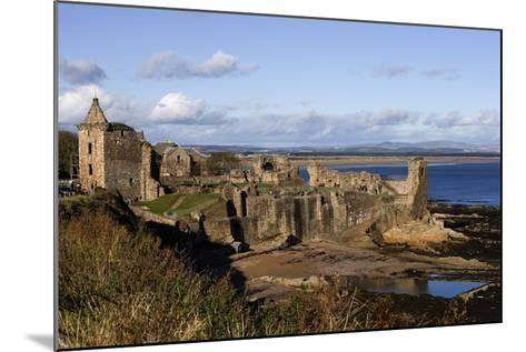 Ruins of St Andrews Castle (Founded in 1200), St Andrews Bay, Scotland, United Kingdom--Mounted Photographic Print