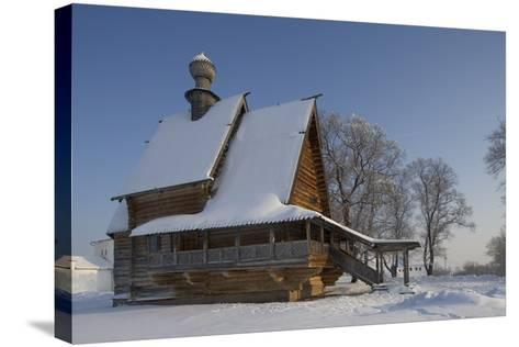 The Wooden Church of St Nicholas (1766), from Glotovo Village, Suzdal, Golden Ring, Russia--Stretched Canvas Print