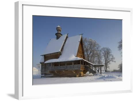 The Wooden Church of St Nicholas (1766), from Glotovo Village, Suzdal, Golden Ring, Russia--Framed Art Print