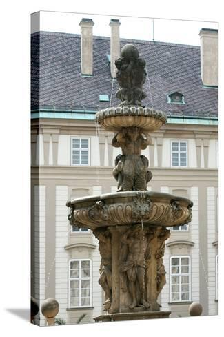 Czech Republic. Prague. Fountain of Kohl by Hieronymus Kohl, 1686 . Castle Complex--Stretched Canvas Print