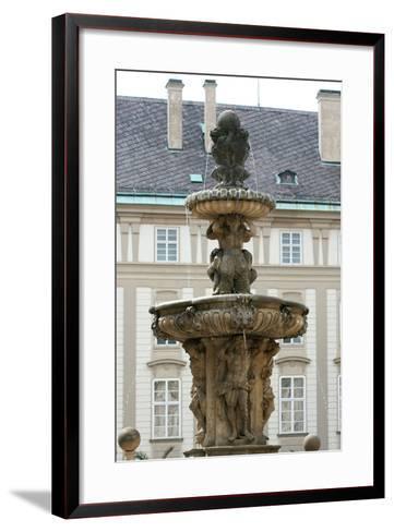 Czech Republic. Prague. Fountain of Kohl by Hieronymus Kohl, 1686 . Castle Complex--Framed Art Print