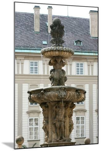 Czech Republic. Prague. Fountain of Kohl by Hieronymus Kohl, 1686 . Castle Complex--Mounted Photographic Print