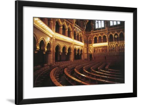 Parliament Hall, 1885-1904, Pest, Budapest (Unesco World Heritage List, 1987), Hungary--Framed Art Print