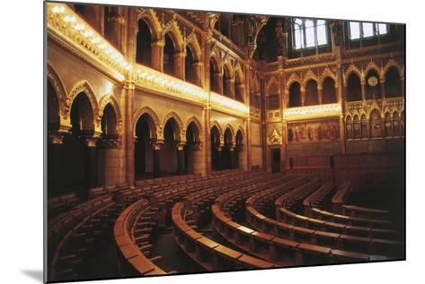 Parliament Hall, 1885-1904, Pest, Budapest (Unesco World Heritage List, 1987), Hungary--Mounted Photographic Print