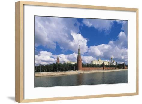 View of Kremlin (Unesco World Heritage List, 1990) and Moskva River, Moscow, Russia--Framed Art Print